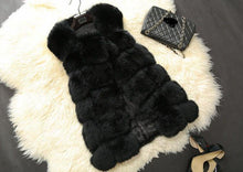 New 2018 Fashion Winter Warm High Quality Fur Vest / Women Coat Thick Jacket Long Pattern Solid Coats