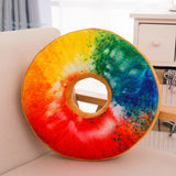 New 3D Creative Cute Doughnut Decorative Pillow Doughnut Plush Bottom Cushion