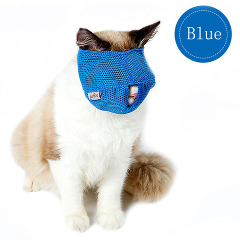 New Arrival Breathable Mesh Cat Anti Bite. Muzzles Cat Travel Tool for Bath / Beauty / Grooming. Cat Bathing Bag S/L Blue/Pink