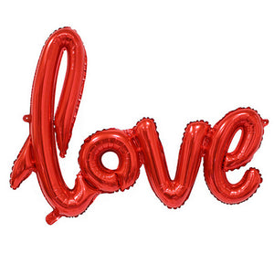 LOVE Letter Foil Balloon for Anniversary / Wedding / Valentines / Party 4 Colors 2 Sizes 1 Piece.
