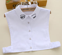 New shirt decorated lace wild fake Sweater Decoration cute eye Collar white