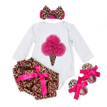 Newborn Baby Girl Clothes Set Long Sleeve Baby Bodysuits Cotton Infant Loving Overall With Bow Bloomers Pants