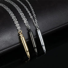 Titanium Stainless Steel Bullet Pendant Necklace Silver / Black / Gold, Link Chain
