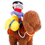 Pet Cat Cowboy Rider Dog Cosplay Costume clothing product Knight Style with Hat Party decoration hot sale