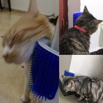 Self Groomer, Hair Removal Brush / Comb. Self Grooming Tool for Dogs / Cats. Hair Shedding Trimming Corner Massage Device.
