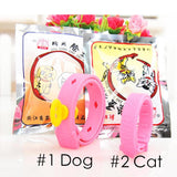 Pink Cat, Dog Collar Anti Mosquito Flea Lice Tick Dogs Collar Parasite Deworming New Summer Pets Dogs Cats Teddy Collar