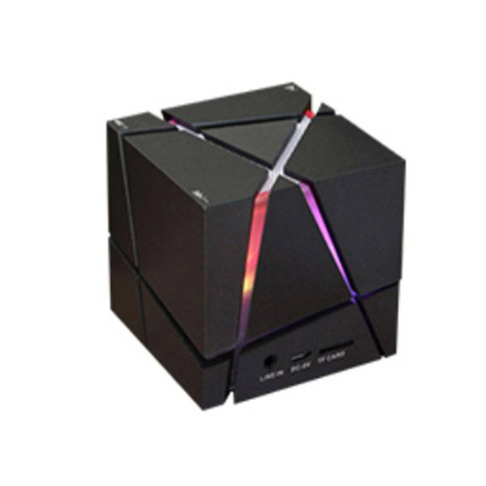 Portable Mini Bluetooth Speaker LED 3W Stereo Sound Box Mp3 Player Subwoofer Speakers Built-in 500mAh Battery APE