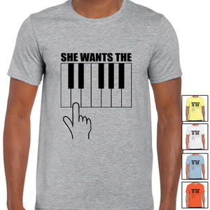 Printed T Shirt Summer Casual Short Sleeve She Wants The D Music Musician