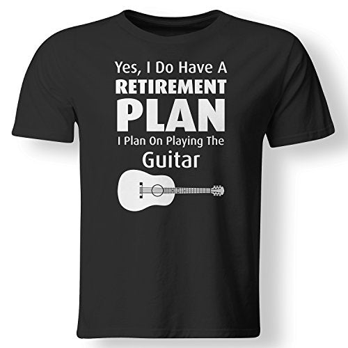 Printed T-shirt Boys Top Tee Shirt Cotton I Have Retirement Plan Playing Guitar