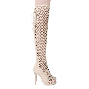 Thigh high Sandals / Boots Women Over the knee Boots High heel Sandals