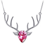 Rhinestone Crystal Christmas / Valentine's Day Gift Fashion Jewelry Deer Necklace Pendant 7 styles
