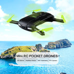 Selfie Mini Folding RC Pocket Drone, WiFi FPV Camera Quadcopters G-Sensor Mode Way points WiFi APP Control
