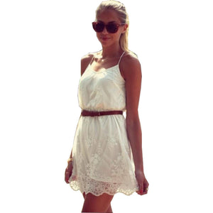 New arrival Spaghetti strap solid lace plus size women party dress