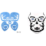 Soft Face / Body Airbrush Paint Stencil Temporary Tattoo Painting Makeup / Design Reusable Template