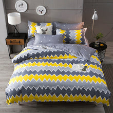 Fashion Geometric Stripes Bed Sheet Duvet Cover Sets 3/4pcs Bedding Set