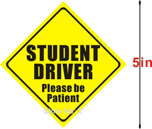 Student Driver Please Be Patient Reflective Magnet Decal bumper Magnetic Car Sign
