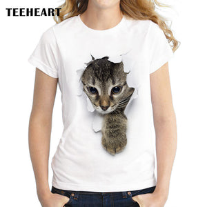 Unique 3D Cute cat Design T Shirt