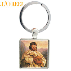 TAFREE Hot Sale Christian Jesus Keychain Pendant Jewelry Bag Charm Goddess Keyrings Holder Special Accessories E547