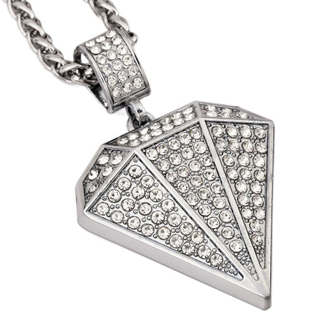 TOP Full Rhinestone long Necklaces Chain hip hop bling bling Jewelry big pendant