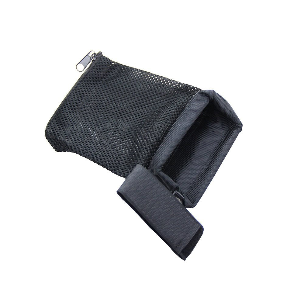 Tactical AR-15 Ammo Brass Shell Catcher Nylon Mesh Trap Zippered Closure for Quick Unload Black