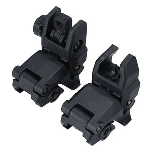 Tactical BUIS M4 AR15  Front Rear Sight flip up Rapid Transition Backup Sight for Picatinny Rail