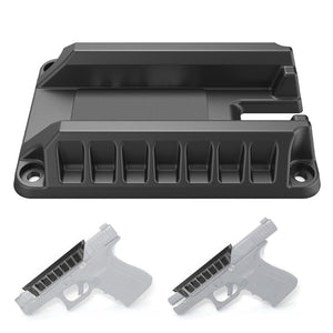 Tactical Magnetic Gun Magnet Mount Concealed Quick Draw Loaded Fits Flat Top Handguns