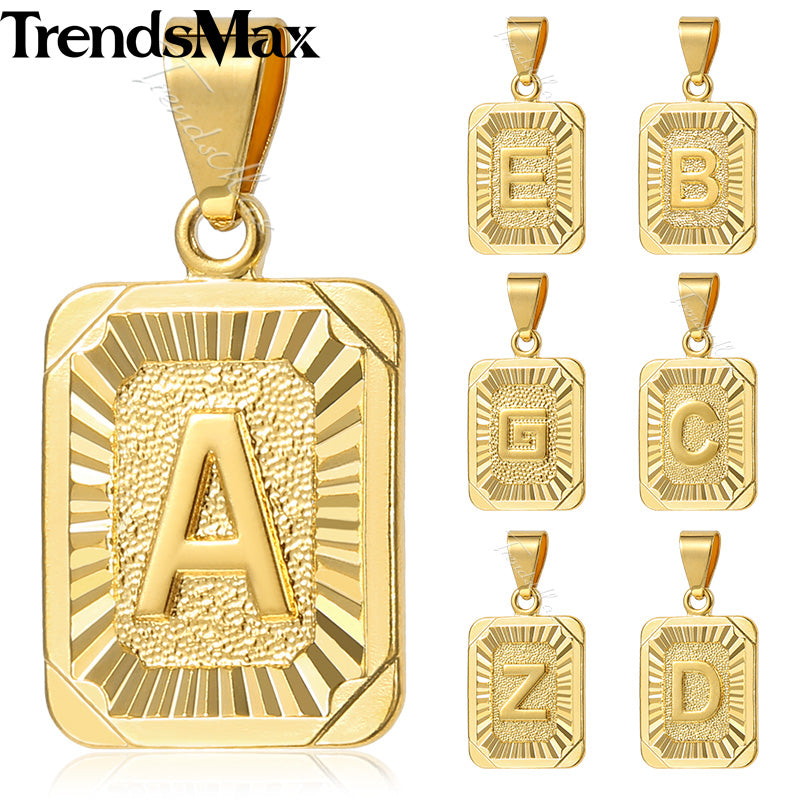 plated gold store fashion capital men online necklace initial letter crystal women alphabet k pendant product
