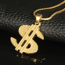 Gold Plated Money Dollar Sign Necklace Pendant