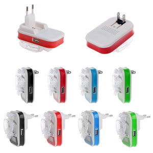 USB Universal Cell Phone Battery Charger with LCD Indicator Screen EU/US Plug Charger Battery Charger + Progress Tracking