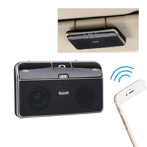 Universal Bluetooth Phone Speaker 4.0 Hands free Music Receiver + Car Charger, Speaker, Mic Adapter 3.5mm for Sun Visor