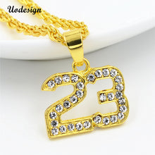 Golden 23 Rhinestone Necklace