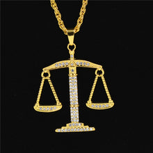Gold Weigh Scale Pendant