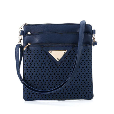 Vintage Women Bag Hollow Out Cross body Bag PU Leather Shoulder Bag. Women Messenger Bag Designer Handbag