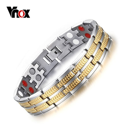 Health Care Magnet Bracelet for Men Jewelry With Negative ions Germanium Infrared