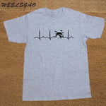 Custom Printed T Shirts Short Sleeve Drums Drummer Heartbeat