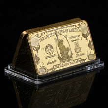 WR American One Million Money 24K Gold Banknote 999.9 Gold Plated Bar Metal Crafts with Plastic Capsule Collection Bar