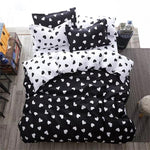 White and black / heart Winter flat bedspread bed linen for bed quilt Cover  1