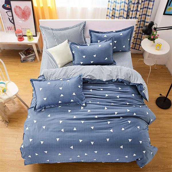 White and black / heart Winter flat bedspread bed linen for bed quilt Cover