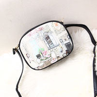 Women bag vintage print messenger bag for women crossbody fashion shoulder bag ladies PU leather handbag