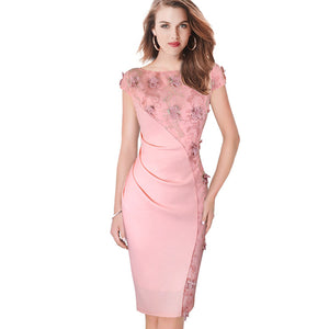 Womens Dress Elegant Embroidery Fashion Casual Party Evening Special Occasion Dress