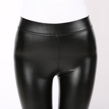 Plus Size Women PU Leather Leggings Pants For Autumn Spring Sexy Stretch Legging Trousers XXXL
