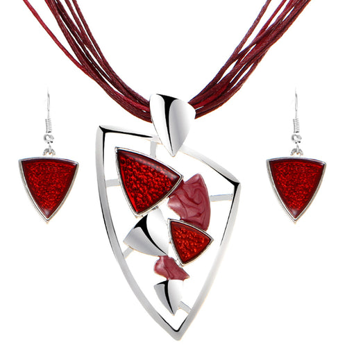 Latest Fashion Jewelry Sets Chain Pendants & Drop Earrings