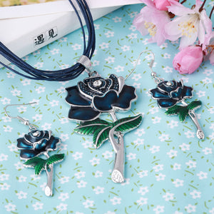 Latest Fashion Jewelry Sets, Chain, Flower Pendant & Earrings