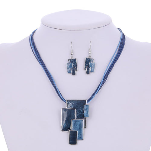 Latest Fashion Vintage Jewelry Set Necklace, Earrings