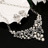 Flower & Pearl Jewelry Set
