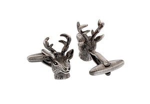 Deer Cuff Links Vintage Color Quality Brass Animal Design