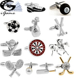 Sports Cuff Links Golf Football Tennis Design