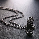Lovely Boxing Glove Necklace. Cool Pendant for Men, Boys 3 Colors.