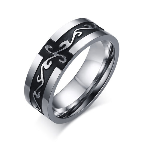 Retro Titanium Steel Ring