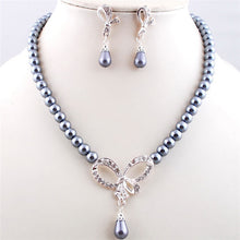 Elegant Exquisite, Pearl Necklace and Earrings Jewelry Set.